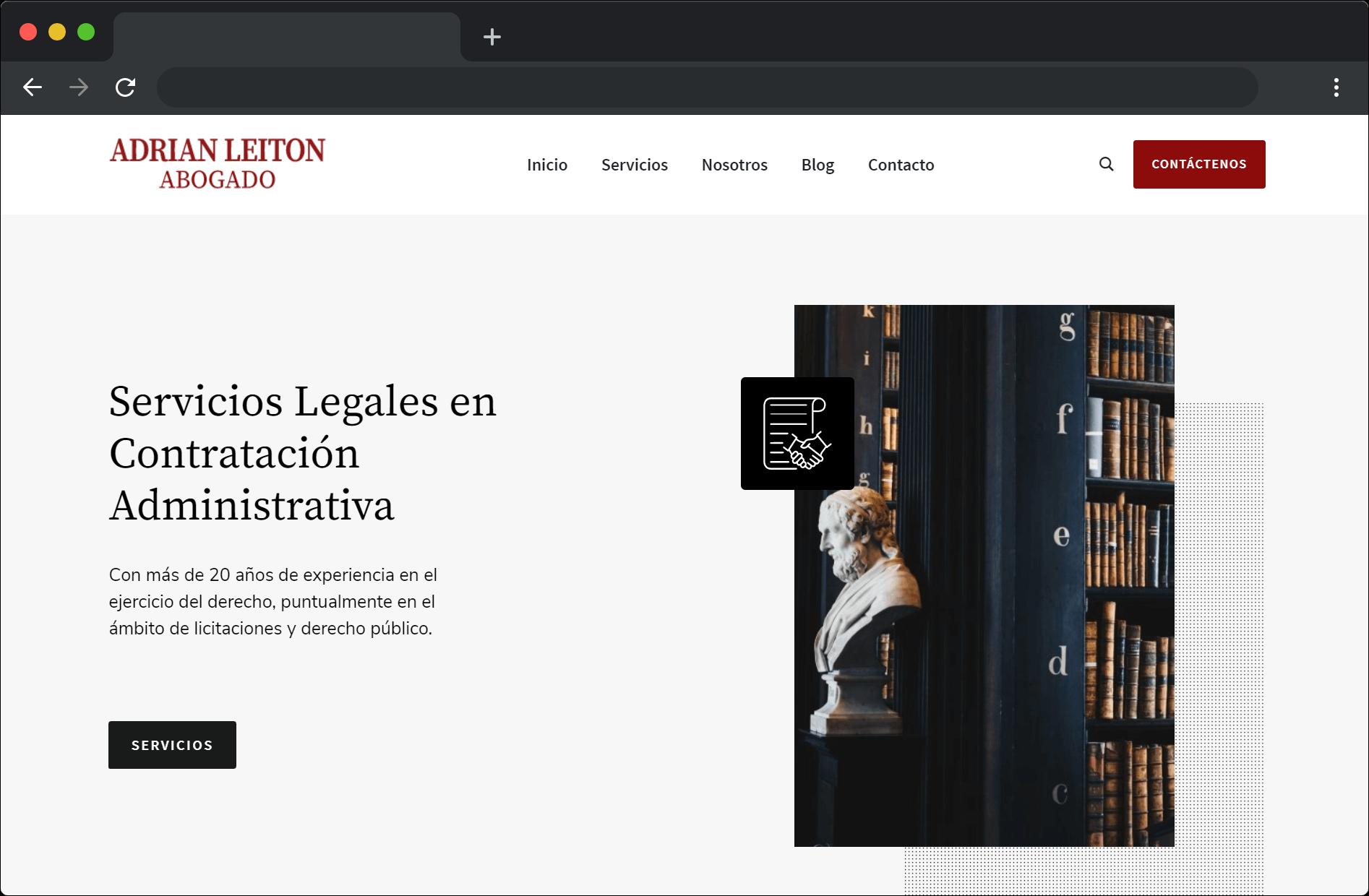 Desarrollo sitio web Abogado Adrián Leitón