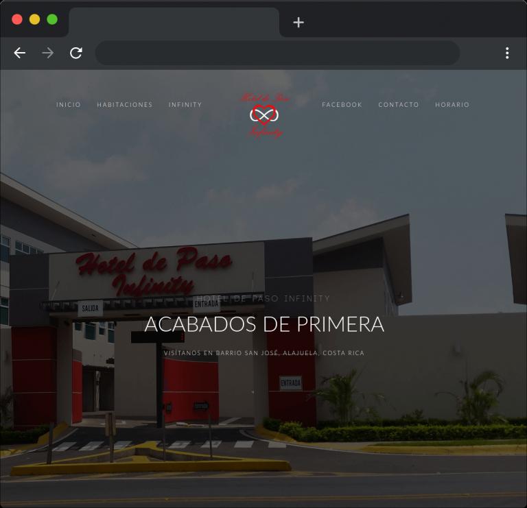 Desarrollo sitio web Hotel de Paso Infinity